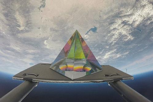Iridescent Space Pyramid