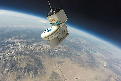 Frosty the Space Toilet -- Christmas Ornament