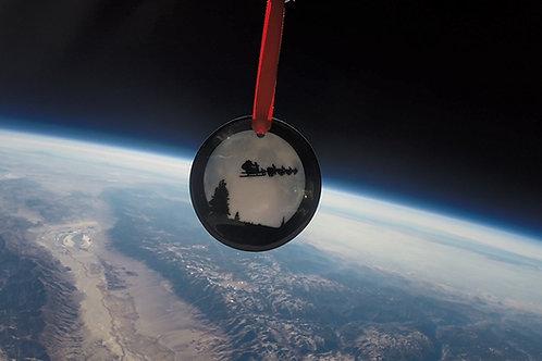 Space Santa Christmas Ornament