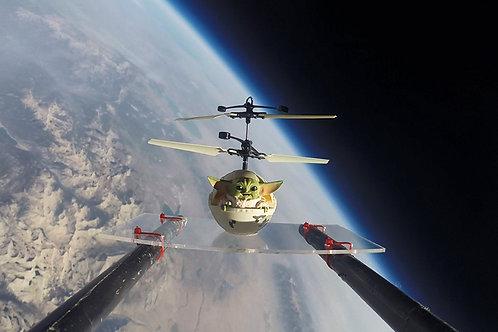 Baby Yoda UFO -- It Actually Flies!