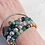 Thumbnail: Silver Plated Lava with Moss Agate Accent Stacking Bracelet