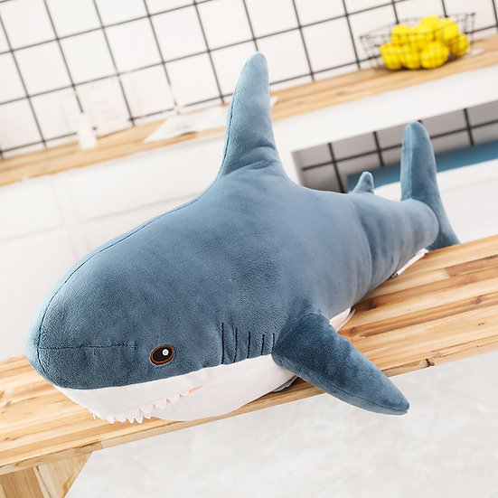 Giant Shark Plush Stuffed Toy Soft Animal for Christmas  Gift for Kids