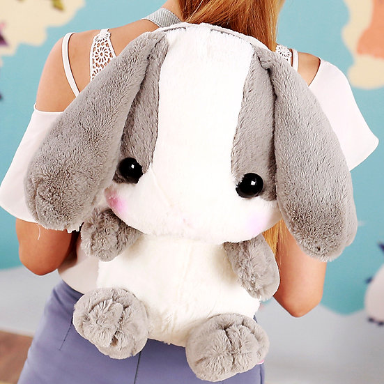 20 inch Cute  Rabbit Shoulder Furry  Plush Bags Girls Birthday Gifts