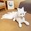 Thumbnail: 1PC Cute Soft White Red Nine Tails Fox Plush Toys Stuffed Animals