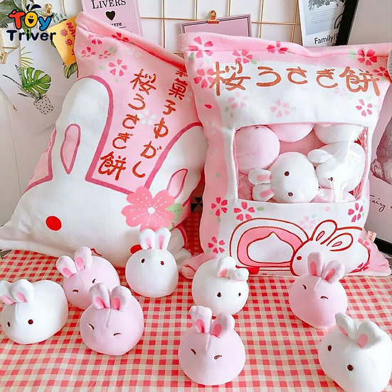 Kawaii Rabbit Wagashi Plush Toy  Room Decorations