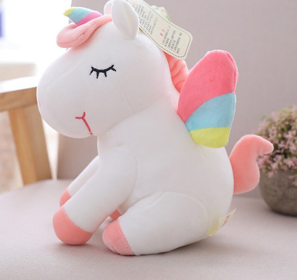 10 inch  Rainbow  Unicorn Plush Toy Animal Stuffed  Soft ,High Quality  Gift