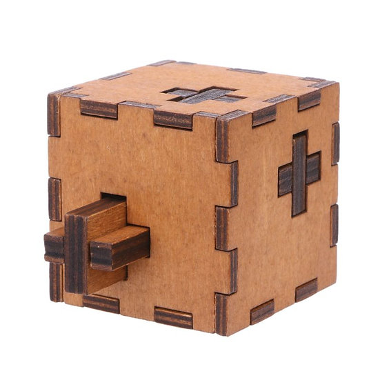 New Switzerland Cube Wooden Secret Puzzle Box Toy Brain Teaser for Kids