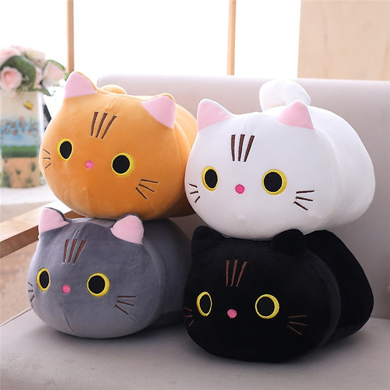 Cute Stuffed Soft Cat Plush Pillow Cushion