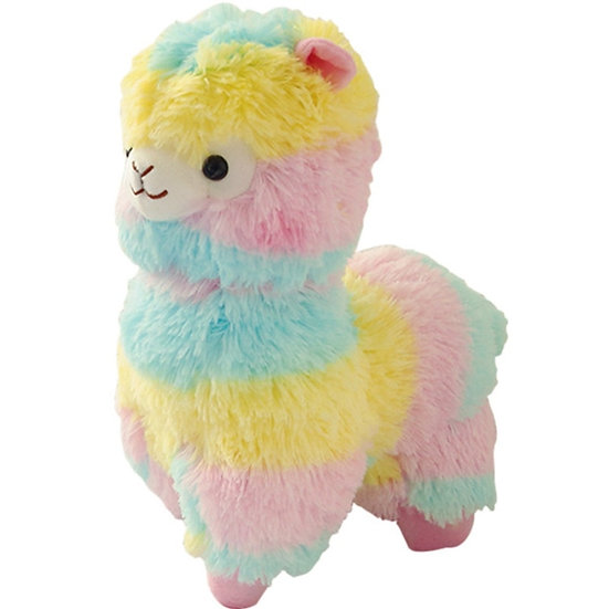 8 inch Rainbow Alpaca Plush Toy  for Children
