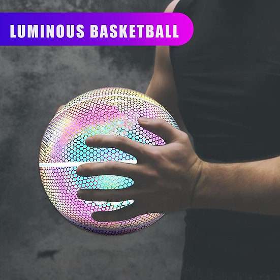 Glowing  Light Up Basketball  for Night Game