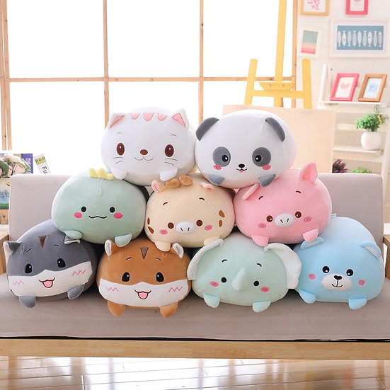 8 inch Animal Dinosaur, Pig, Cat, Bear,  Panda, Hamster, Elephant ,Deer