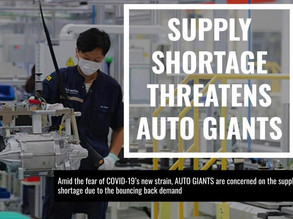 Supply Shortage Threatens Auto Giants