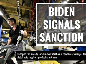Biden Signals Sanction: Auto Suppliers Are Worried