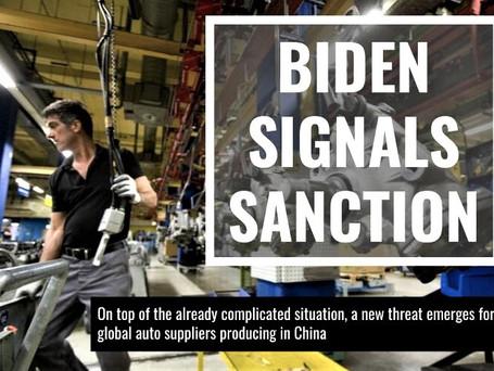 Biden Signals Sanction: Auto Suppliers Are Worried