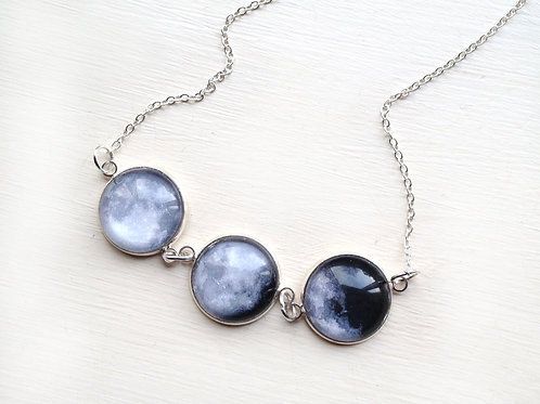 3 Moon Phase Necklace