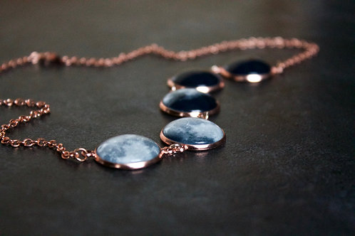 Rose Gold Moon Phase Necklace