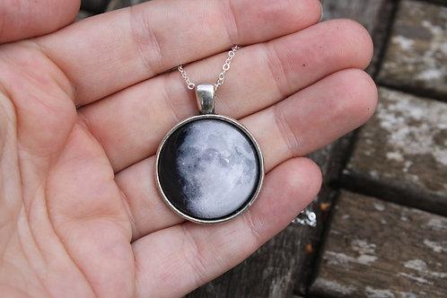 Custom Birth Moon Necklace (25mm)
