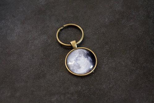 Custom Bronze Moon Keychain