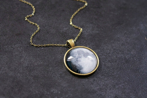 Custom Bronze Moon Necklace