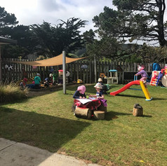 Our outside play area at Country Life