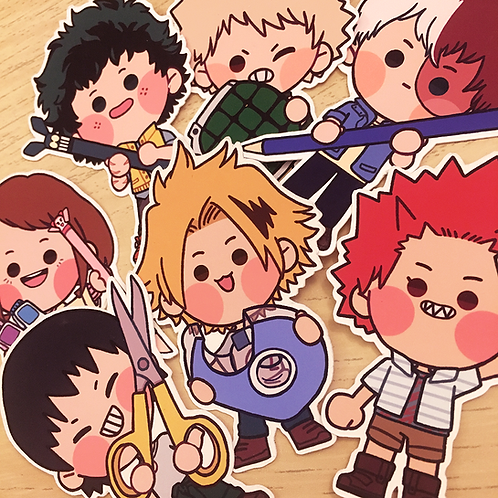 BNHA Stationery - Stickers