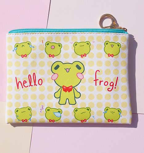 Hello Frog! - Large Pouch