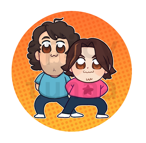 "GameGrumps Pop Team Epic 2.25"" Circle Pin"
