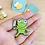 """Thumbnail: Feral Kermie Enamel Pin 1.25"""""""