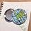 """Thumbnail: Rollerskating Kermie 2.25"""" Circle Pinback Button"""