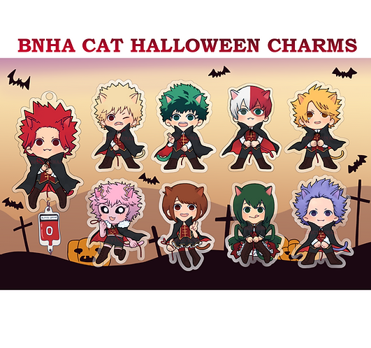 "Halloween Cat - 2.5"" Charms"