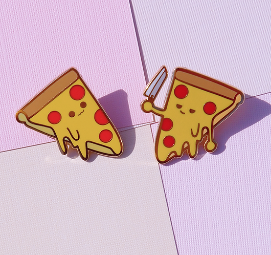Pizza sus? Enamel Pins 1.25""