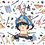 "Thumbnail: K N Y - Inosuke running with scissors - 3"" Charm"