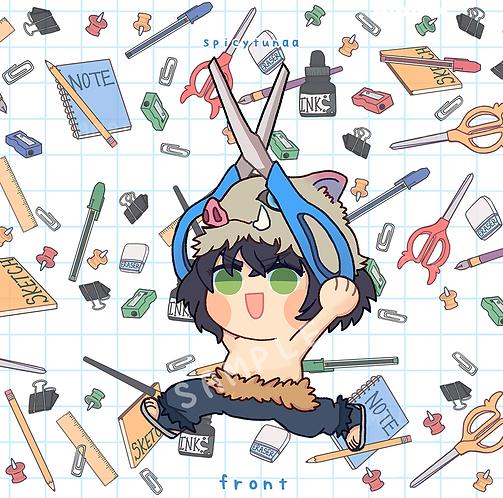 "K N Y - Inosuke running with scissors - 3"" Charm"