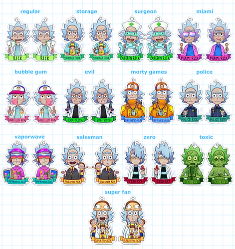 PRE-ORDER: Trainer Ricks - Pocket Morty Charms