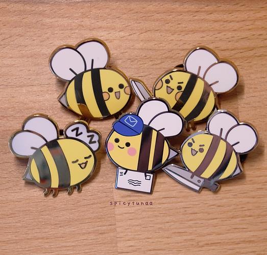 Bee Enamel Pins