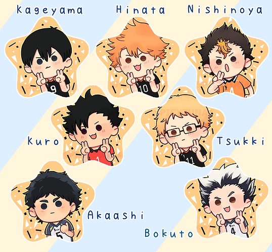 Haikyuu!! Star Pins