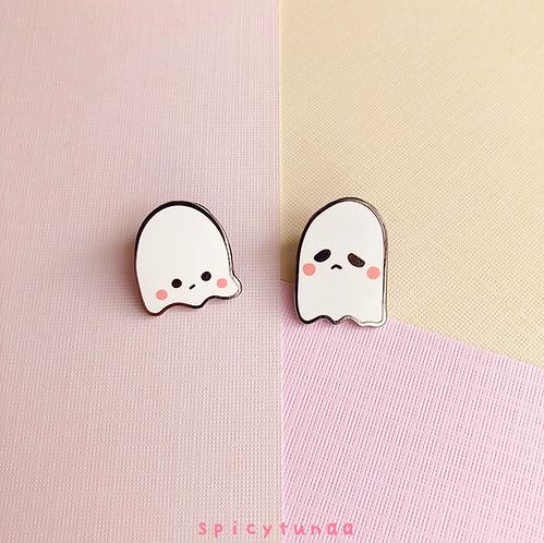 """Shy & Mini Ghost Buds - Enamel Pins 1"""""""