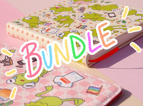 Kermie BUNDLE: Pouch & Sketchbook