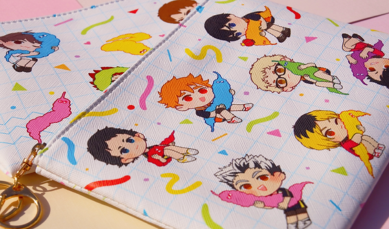 Haikyuu x Worm on a String: Large Pouch