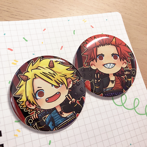 "BNHA Oni Kiri & Kami 2.25"" Circle Pinback Button"
