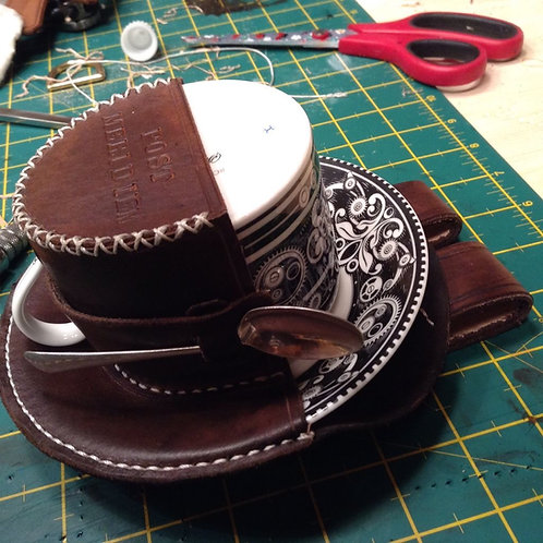Steampunk Royal Crown Derby Teacup Holster