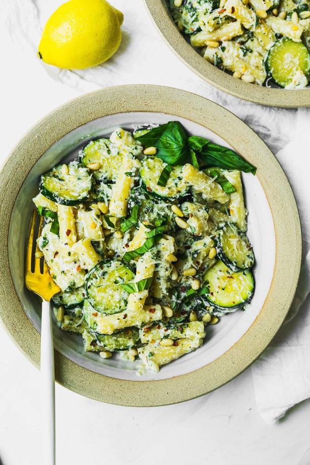 Zucchini Basil Pasta