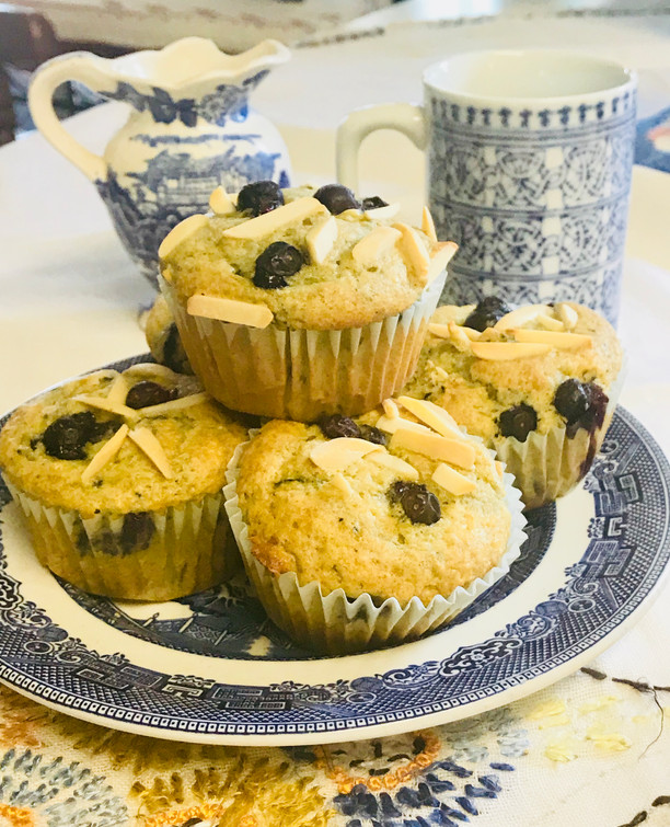 Almond Blueberry Protein Muffins