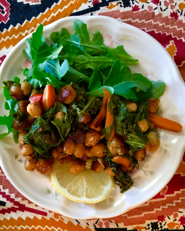 Chickpea and Argula Stir Fry