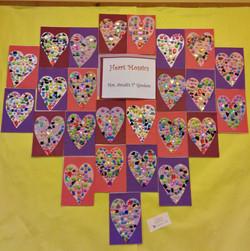 1st Grade - Heart Mosaics