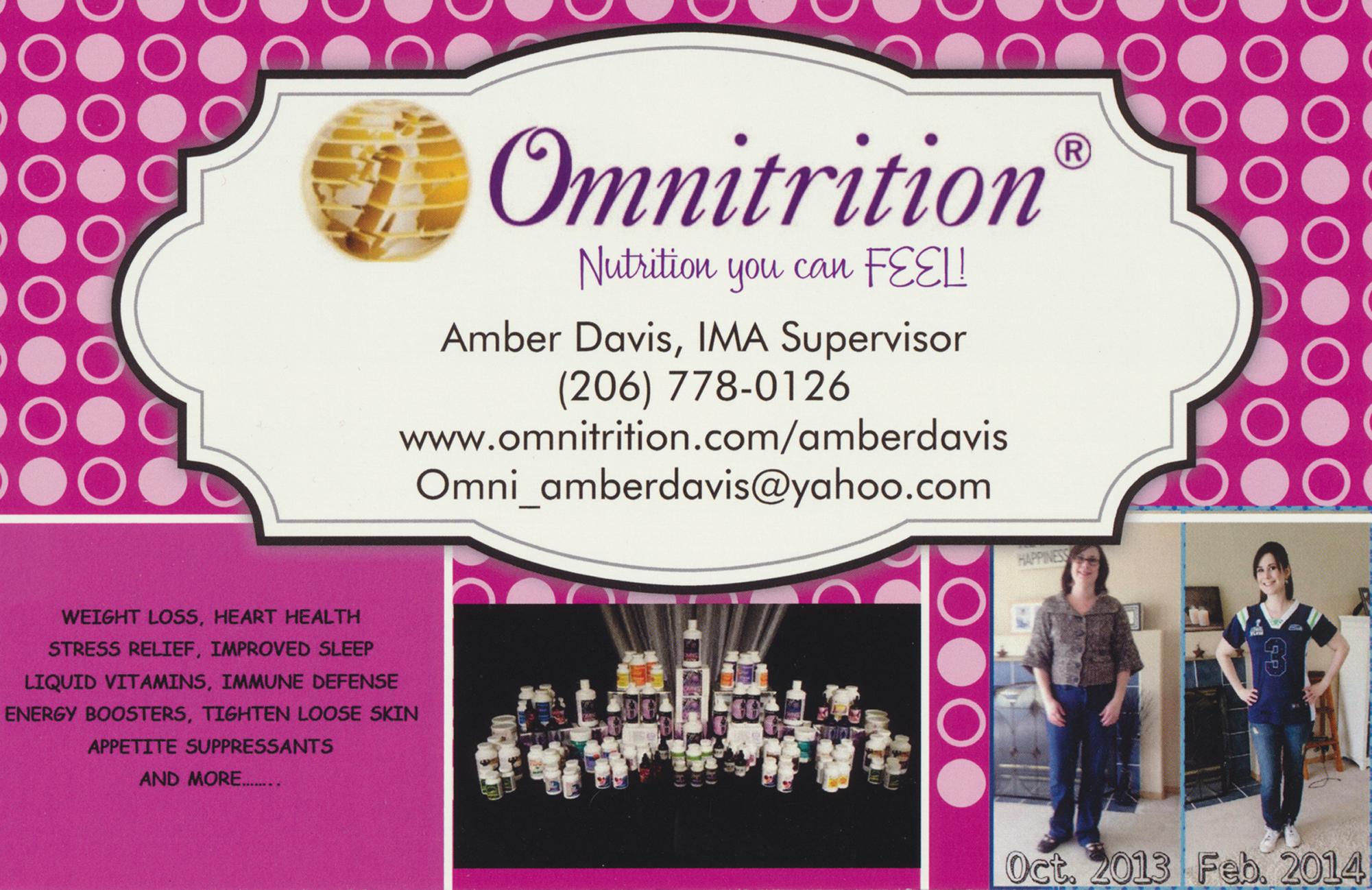Omnitrition Inc, Amber Davis IMA