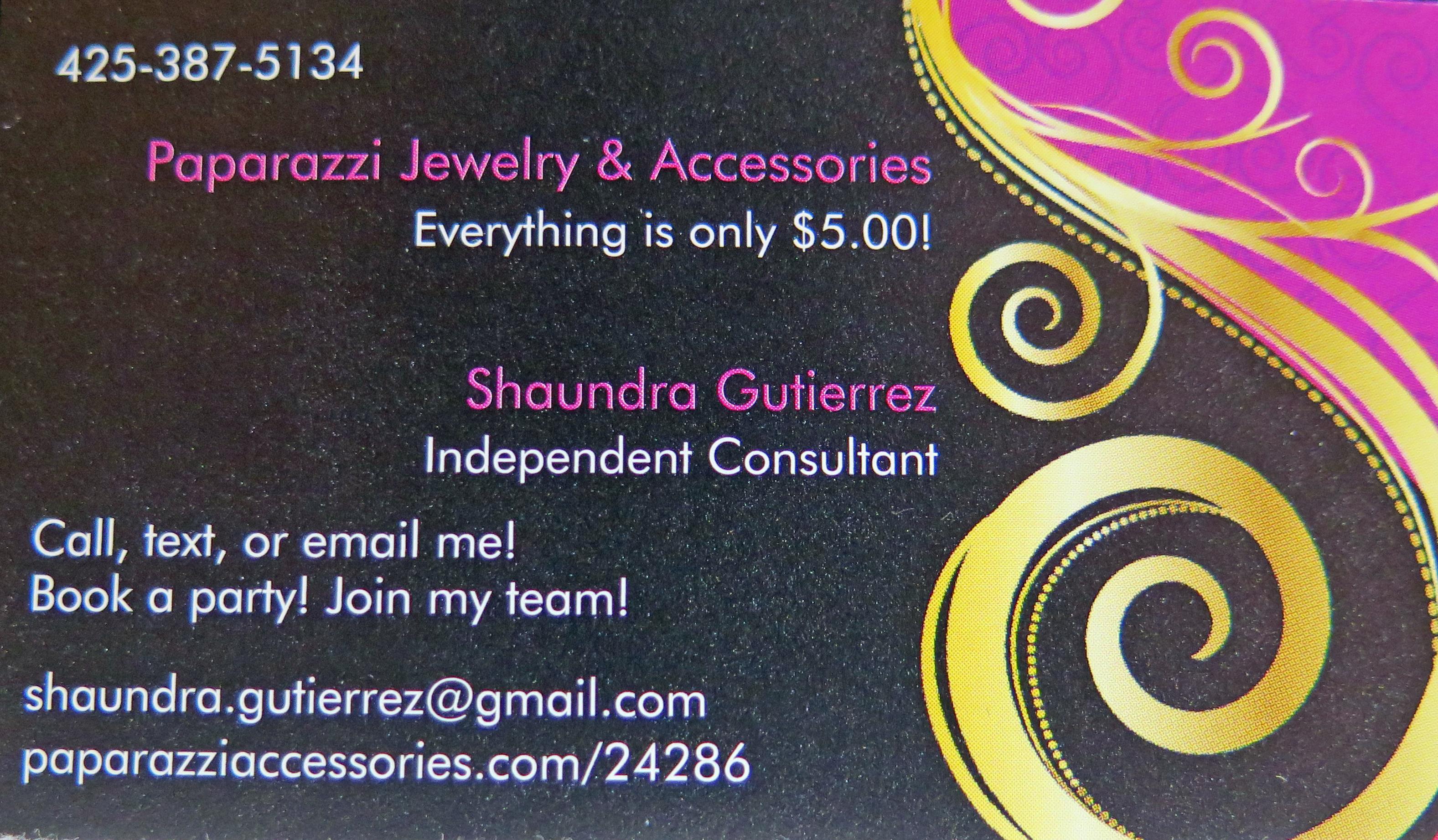 Shaundra Gutierrez, Paprazzi Jewelry