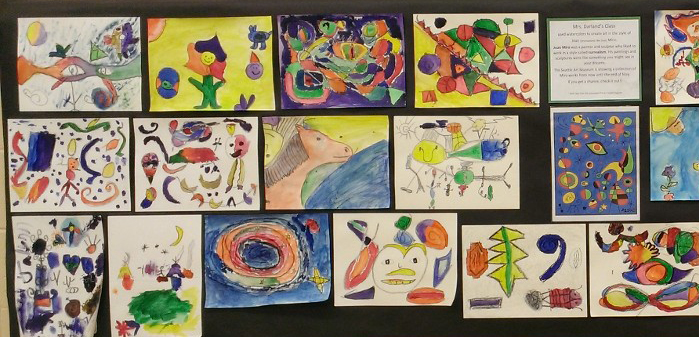 4th Grade - Art in the style of Miro