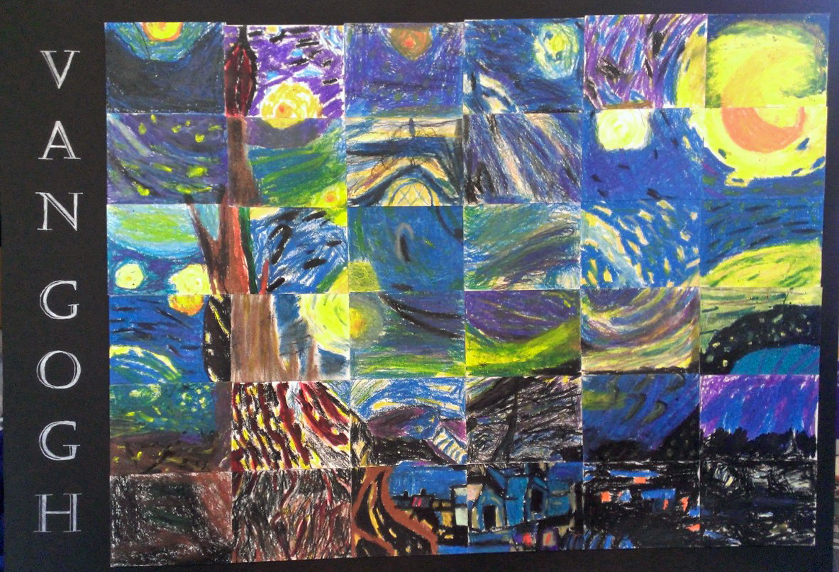 4th Grade - Van Gogh Collage