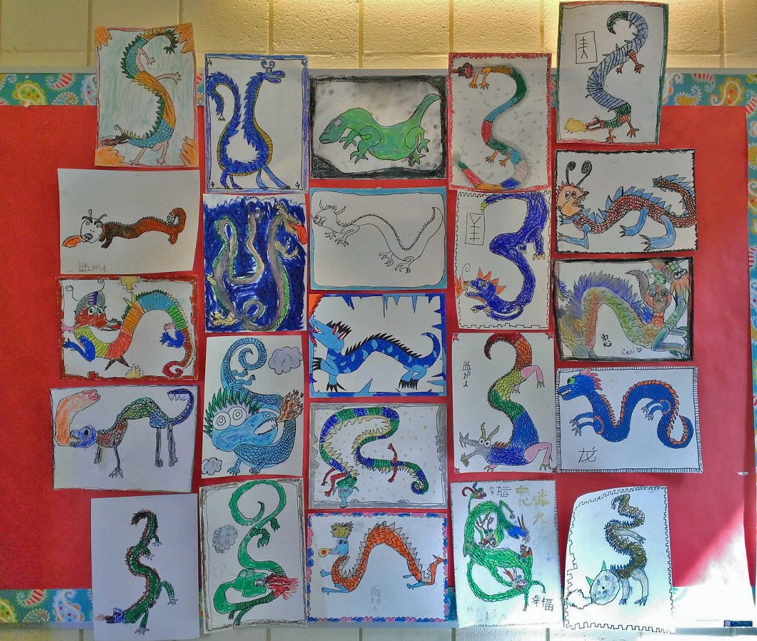 4th Grade - Chinese Dragons